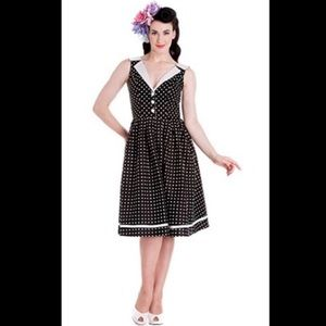 NWOT Hell Bunny Polka Dot Collared Dress XL